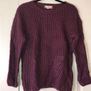 Purple/maroon knit sweater